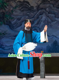 Asian Chinese Traditional Dress Theatrical Costumes Ancient Chinese Clothing Beijing Opera Wise Men Costumes and Hat