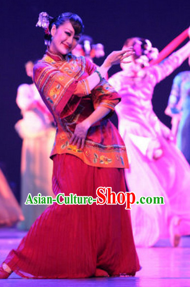 Chinese Minguo Female Dance Costumes Complete Set for Women