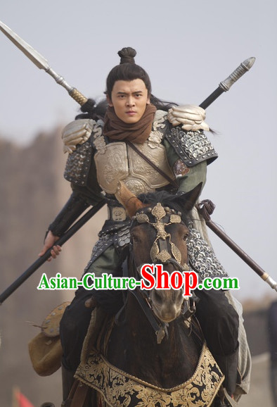 Traditional Chinese Ancient General Warrior Armor Costumes Complete Set