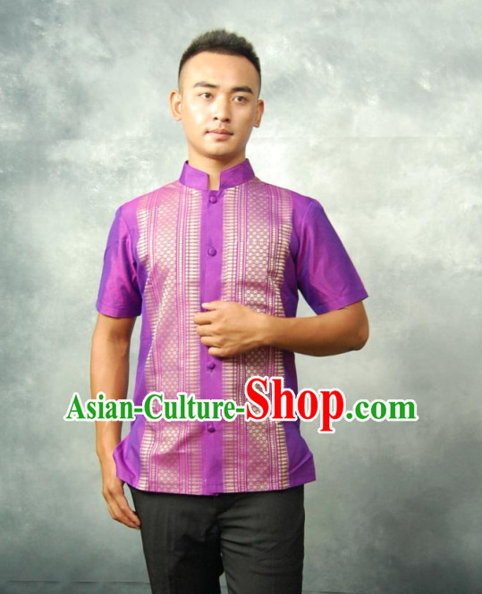Thailand Traditional Blouse and Pants Complete Set for Men