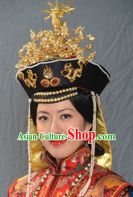 ad0611828c9 Chinese Ancient Imperial Empress Wedding Phoenix Hat