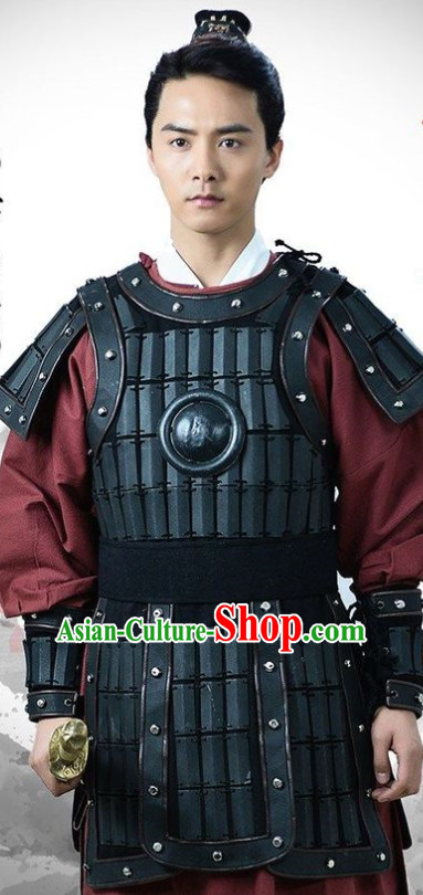 Ancient Asian General Armor Hanfu Dress Outfits for Men