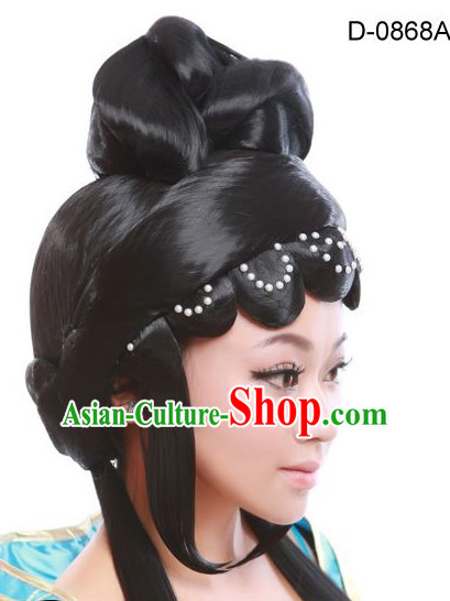 Chinese Opera Hair extensions Wigs Fascinators Toupee Hair Pieces Long Wigs and Accessories for Women