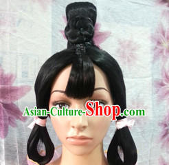 Chinese Ancient Hair extensions Wigs Fascinators Toupee Hair Pieces Long Wigs for Girls