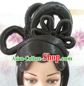 Chinese Halloween Fairy Lady Hair extensions Wigs Fascinators Toupee Long Wigs Hair Pieces
