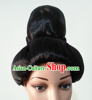 Chinese Classicial Tang Dynasty Lady Hair extensions Wigs Fascinators Toupee Long Wigs Hair Pieces Halloween Wigs
