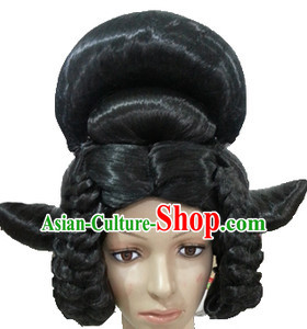 Chinese Ancient Princess Beauty Black Fairy Wigs