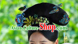 Chinese Classic Princess Black Long Wigs and Hair Jewelry for Women