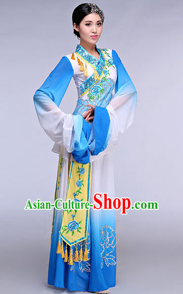 Chinese Classical Competition Dance Costume Group Dancing Costumes for Women