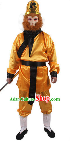 Sun Wukong Monkey King Costume and Hat for Men