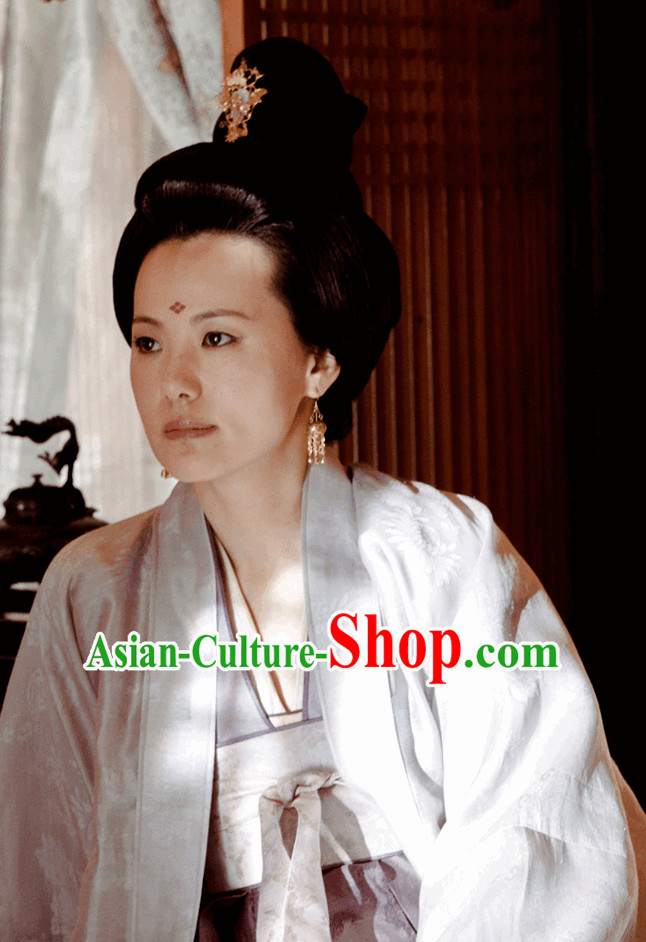 Ancient Tang Dynasty Black Wigs and Hair Accessories