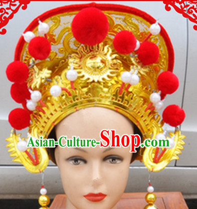 Ancient Chinese Mu Guiying Hat for Women or Girls