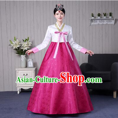 Korean Traditional Women Costumes Korean Ancient Clothes Wedding Full Dress Formal Attire Ceremonial Clothes Court Stage Dancing
