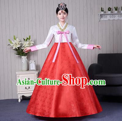 Korean Traditional Costumes Women Ancient Clothes Wedding Full Dress Formal Attire Ceremonial Clothes Court Stage Dancing