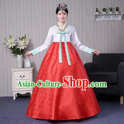 Korean Traditional Wedding Dress Costumes Korean Ancient Clothes Full Dress Formal Attire Ceremonial Clothes Court Stage Dancing