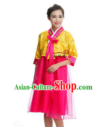 Women Shirt Skirt Korean Clothes Show Costume Shirt Sleeves Korean Traditional Dress Dae Jang Geum Yellow Top Red Skirt