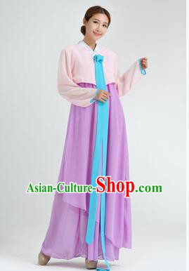 Korean Traditional Dress Women Clothes Show Costume Shirt Sleeves Korean Traditional Dress Dae Jang Geum Pink Top Purple Skirt
