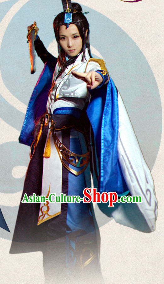 Ancient Chinese Princess Style Cosplay Costumes Clothes Complete Set for Women