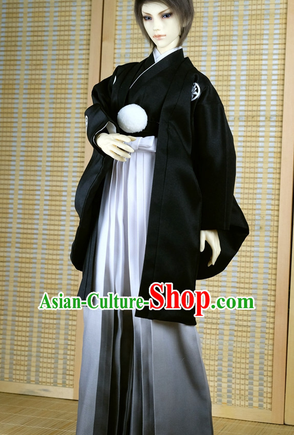 Japanese Traditional Prince Emperor Kimono Clothes Complete Set for Men Boys Adults