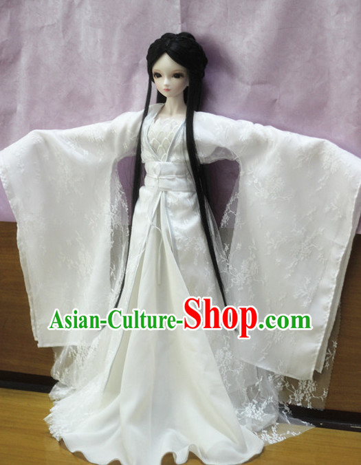 Chinese Classical Fairy Dance Costumes Complete Set for Women Girls Adults Children