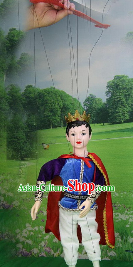 Top Traditional Chinese Ancient Handmade Handsome Prince Hand Marionette Puppet Hand Puppets