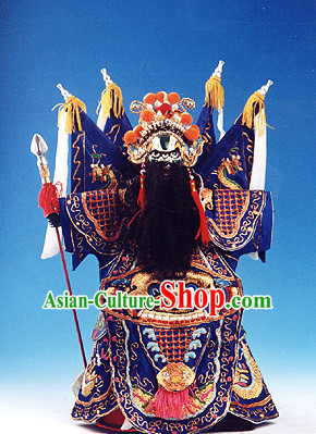 Traditional Chinese Handmade and Embroidered General Glove Puppet String Puppet Hand Puppets Hand Marionette Puppet Arts Collectibles