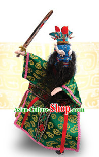 Traditional Chinese Handmade Dragon King of East Ocean Hand Puppets Hand Marionette Puppet