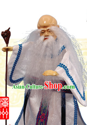 Traditional Chinese Handmade God of Longevity Hand Puppets Hand Marionette Puppet