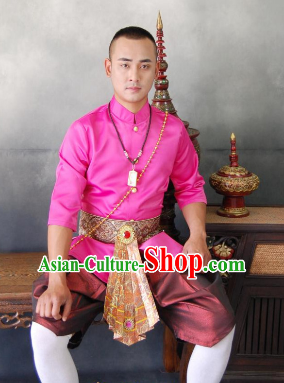 Traditional National Thai Dress Thai Traditional Dress Dresses Wedding Dress online for Sale Thai Clothing Thailand Clothes for Men Boys Youth