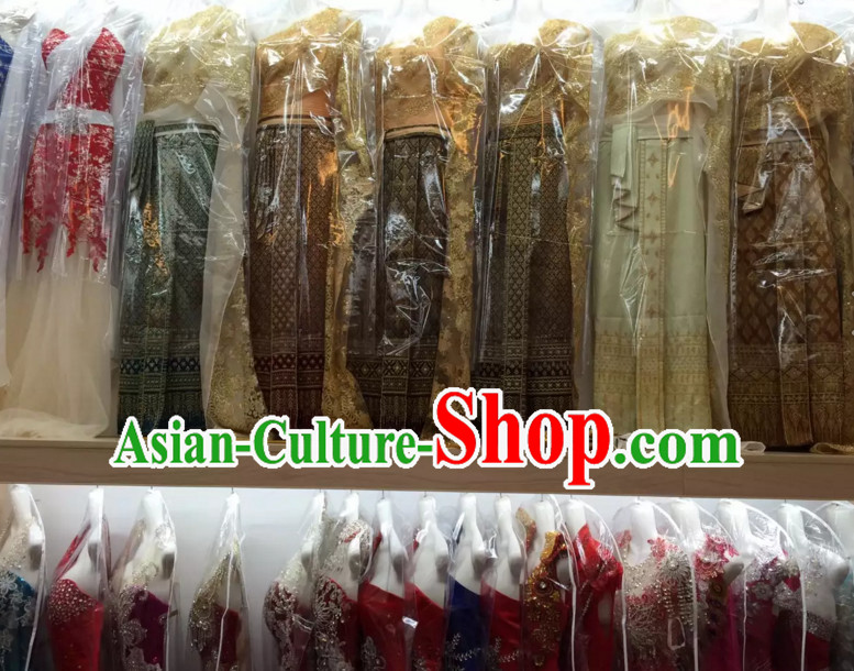 Top Traditional National Thai Garment Dress Thai Traditional Dress Dresses Wedding Dress Complete Set for Women Girls Youth Kids Adults
