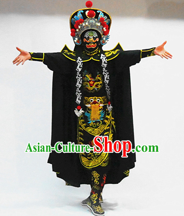 Chinese Bian Lian Mask Change Changing Costumes Helmet Masks Complete Set for Men
