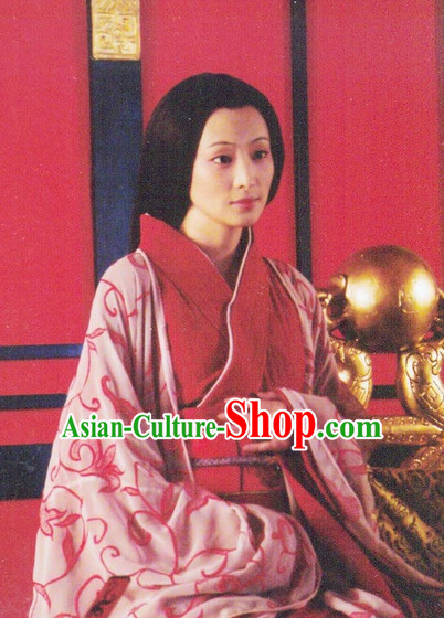 Qin Dynasty Chinese Classic Type of Imperial Princess Women Long Black Wigs for Women