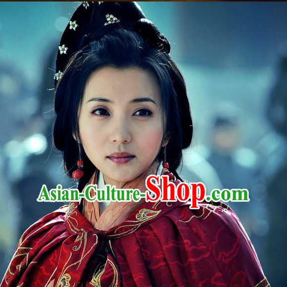 Three Kingdoms Beauty Diao Chan Hairstyles Black Wigs for Women or Girls