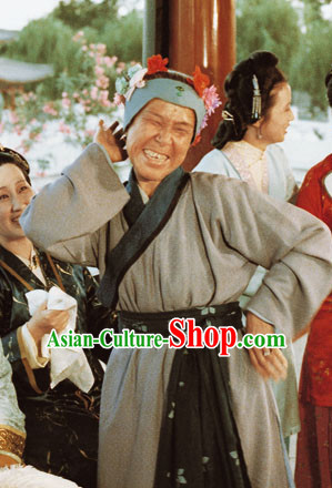Dream of Red Chamber Ming Dynasty Farmer Costume and Hairpieces Complete Set for Women
