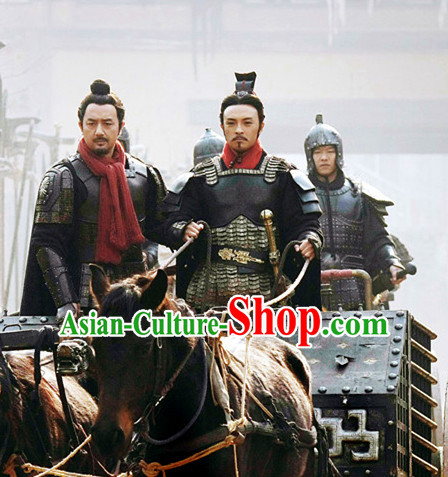 Asian Chinese Ancient Superhero General Warrior Body Armor Costumes Complete Set for Men or Boys