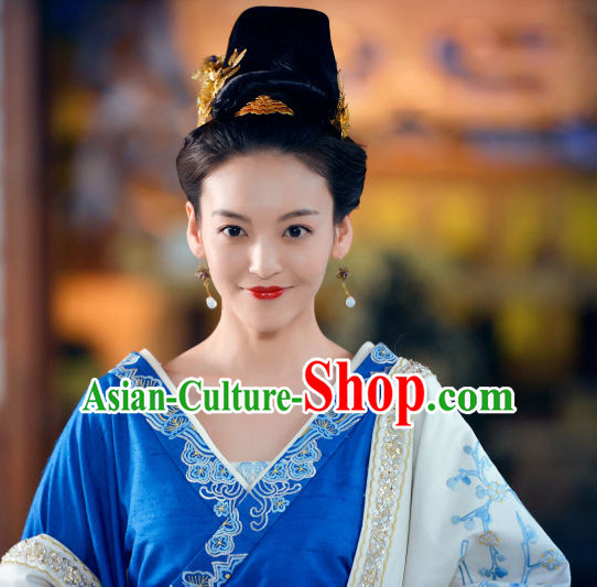 Ancient Chinese Traditional Style Princess Black Wigs for Women Girls