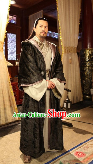 Ancient Chinese Style Male Costumes Dress Authentic Clothes Culture Traditional National Clothing Complete Set