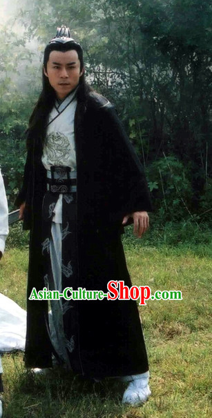Traditional Chinese Ancient Hanfu Male Robe Clothing Complete Set