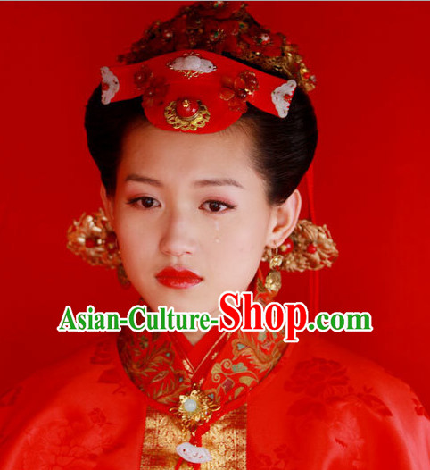 Traditional Ancient Chinese Style Bridal Wedding Hair Jewelry Set for Women
