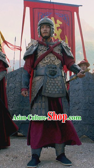 Traditional Chinese Ancient Prince Body Armor Men Suit Complete Set