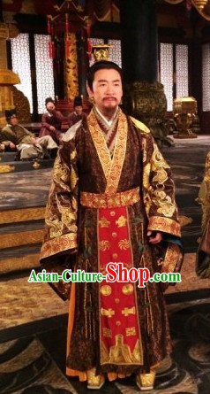 Traditional Chinese Ancient General Samural Body Armor Men Suits and Helmet Complete Set