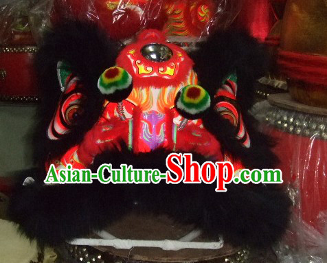 Supreme Chinese 100_ Natural Long Wool Fut San Lion Dancing Costumes Complete Set