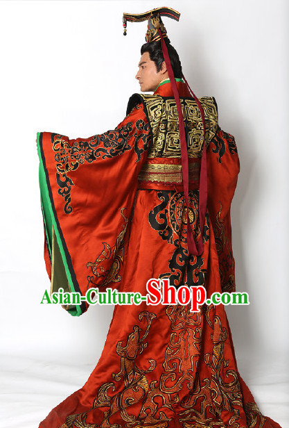 2776d7402 Ancient Chinese Emperor Imperial Palace Garments and Crown Complete Set for  Men