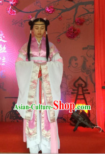 Chinese Ancient Style Wedding Ceremony Officiate Costumes Complete Set for Women