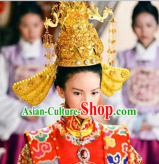 Chinese Traditional Wedding Ceremony Gold Hat