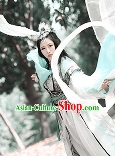 Chinese Ancient Han Fu Clothing Robes Tunics Accessories Traditional China Beauty Clothes Adults Kids