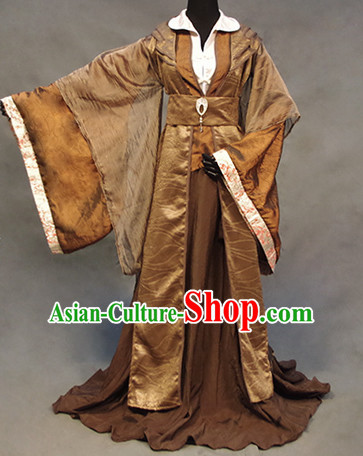 Chinese Ancient Han Fu Clothing Robes Tunics Accessories Traditional China Clothes Adults Kids