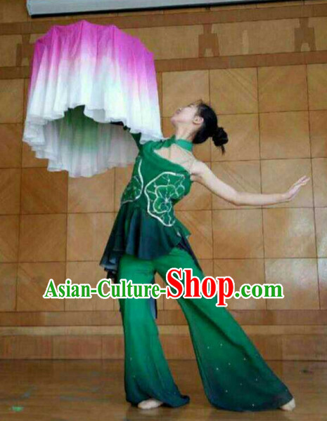 Chinese Traditional Fan Dance Costumes for Women Customized Dance Dresses Dancing Wear Complete Set for Kids