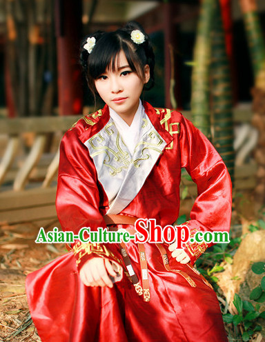 Asian Traditional High Quality Hanfu Tang Dynasty Clothes Costume Costumes Complete Set for Women Girls Children Adults