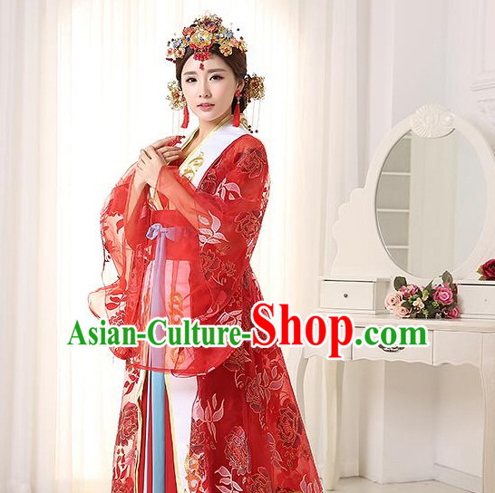 Traditional Chinese Stage Dancing Costume Chinese Classical Dance Costumes and Headpieces Complete Set for Women